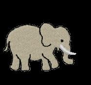 Elefant groß rechts