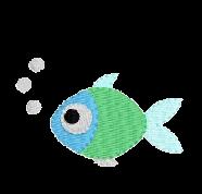 Fisch mit Blasen links