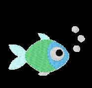 Fisch mit Blasen rechts