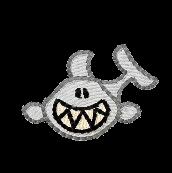 Hai grinsend links