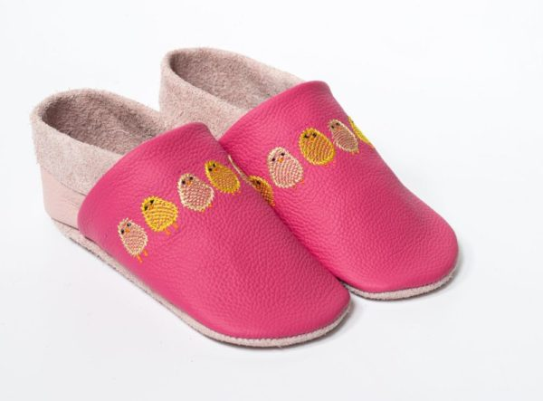 krabbelschuhe-pink-mit-kueken