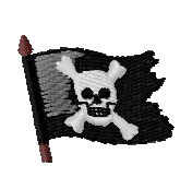 Piratenflagge links