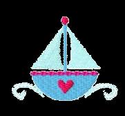 Segelboot Herzchen