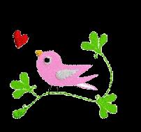 Vogel auf Zweig links