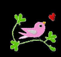 Vogel auf Zweig rechts
