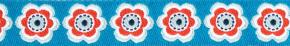 Webband Anemona Bloom blau orange