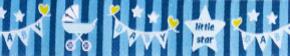 Webband Baby Star blau