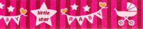 Webband Baby Star pink