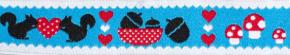 Webband Eichhoernchen blau