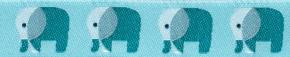 Webband Elefanten mint