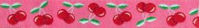 Webband Kirschen pink