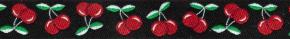 Webband Kirschen schwarz