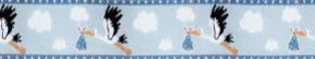 Webband Klapperstorch blau