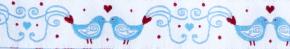 Webband Liebesvoegel blau weiss
