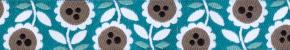 Webband Lovely Flowers tuerkis