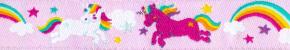 Webband Rainbow Unicorns rosa