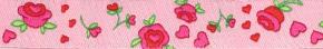 Webband Rosen rosa
