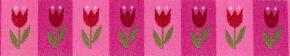 Webband Tulpen pink