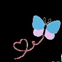 Schmetterling Herz links