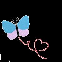 Schmetterling Herz rechts